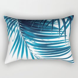 Palm Leaves Blue Vibes #1 #tropical #decor #art #society6 Rectangular Pillow