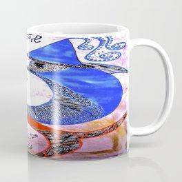 Dolphins Courting tetkaART Coffee Mug