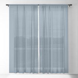 Denim Blue Sheer Curtain