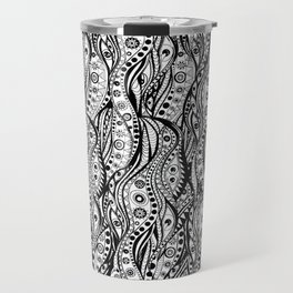 Distorted Dream Print (Black/White) Travel Mug