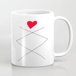 Inguz Rune with full Heart Coffee Mug