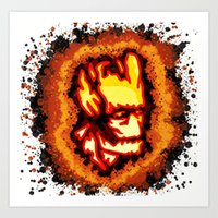 groot Art Prints featuring Groot  by grapeloverarts