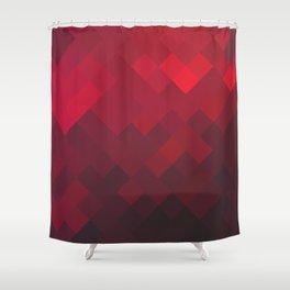 Red Impulse Shower Curtain