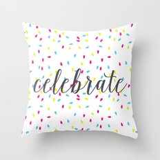 Celebration Lights Throw Pillow