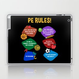 PE Physical Education Teacher Rules Laptop & iPad Skin