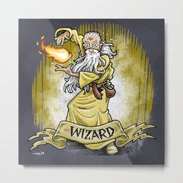 Gauntlet: Wizard portrait Metal Print