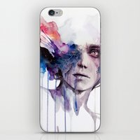 agnes iPhone & iPod Skins featuring l'assenza by agnes-cecile