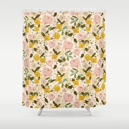 Alice's vintage garden Shower Curtain