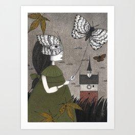 Oda (An All Hallows' Eve Tale) Art Print