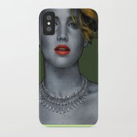 jennifer lawrence iPhone & iPod Cases featuring Jennifer Lawrence by Marv Castillo