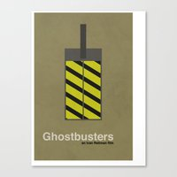 ghostbusters Canvas Prints featuring Ghostbusters by Nick Roosen