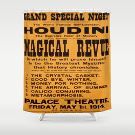 Vintage poster - Houdini Magical Revue Shower Curtain