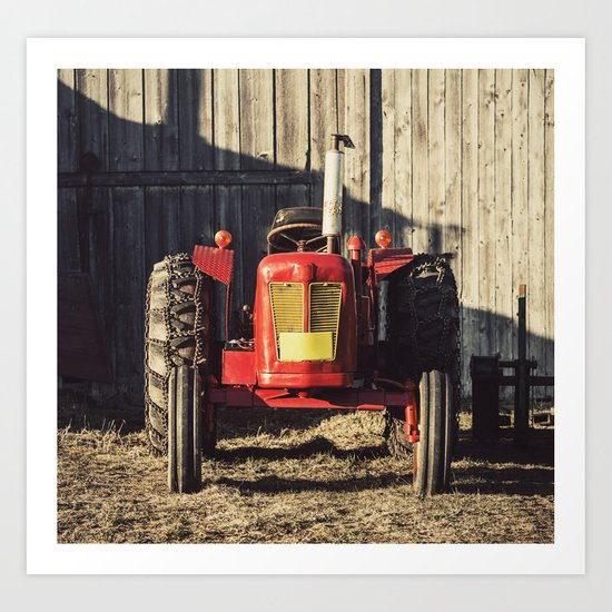 Sexy Tractor Art Print