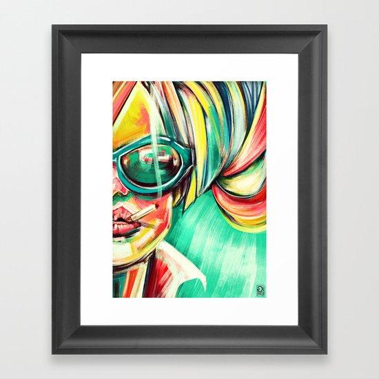 """Glowing 6"" Framed Art Print"