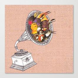 Bird Gramophone Cover Art Canvas Print