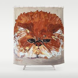 Fat cat Shower Curtain