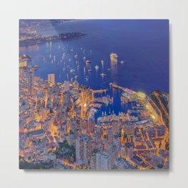 Monaco Sparkles Metal Print