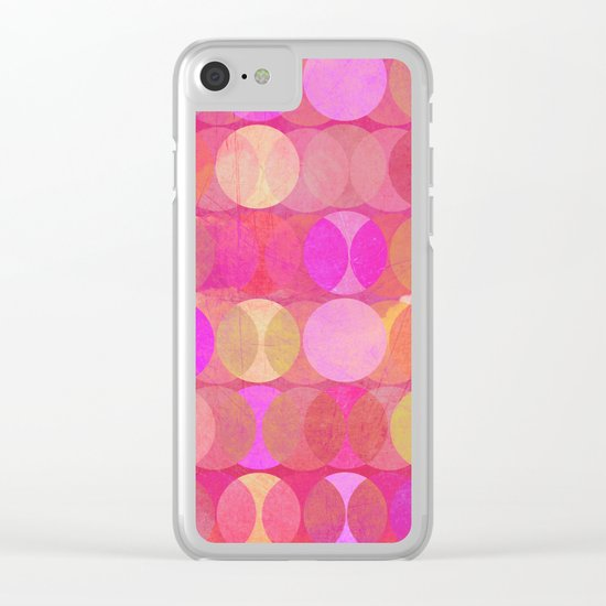 Multitudes in red Clear iPhone Case