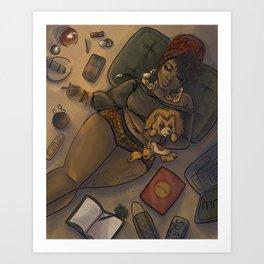 Quarantine Bae 3  Art Print