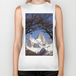 Fitz Roy Mountain Landscape (Patagonia, South America) Biker Tank