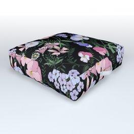 Flower bed in black Outdoor Floor Cushion