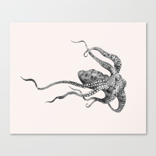 Octopus in pink Canvas Print
