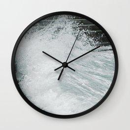 High Tide at Black Sand Beach Wall Clock