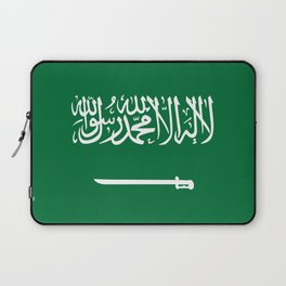 National flag of  the Kingdom of Saudi Arabia - Authentic version to scale and color Laptop Sleeve