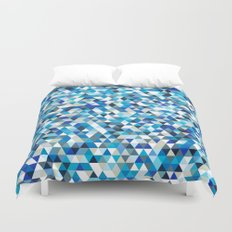 Icy triangles Duvet Cover