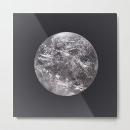 Quartz Moon Metal Print