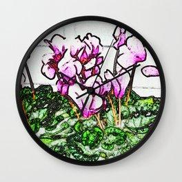 PHIPPS CYLAMEN Wall Clock