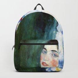 Gustav Klimt Portrait Of A Lady Backpack
