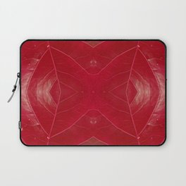 Warm Red Leatherette Laptop Sleeve