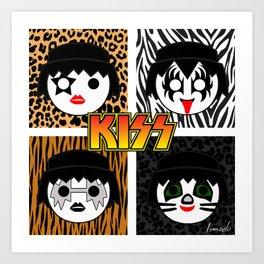 KISS MOBIL / Dynasty - Metal - Creatures of the night - Digital Ilustration - pop art Art Print