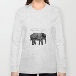 Buddha Quote with Henna Elephant Long Sleeve T-shirt