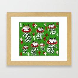Kittens in Mittens Framed Art Print