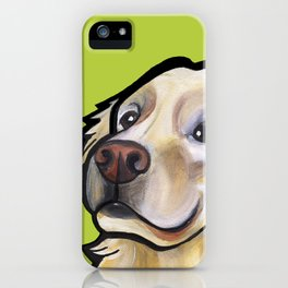 George the golden retriever iPhone Case