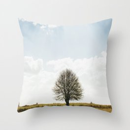 The solitary Burmese tree Throw Pillow