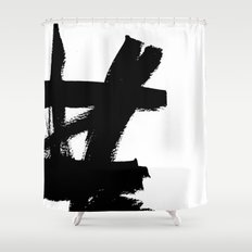 Abstract black & white 2 Shower Curtain