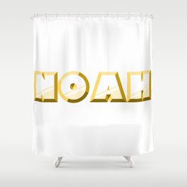 """""""NOAH"""" first name yellow pattern Shower Curtain"""