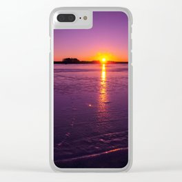 Colorful sunset Clear iPhone Case