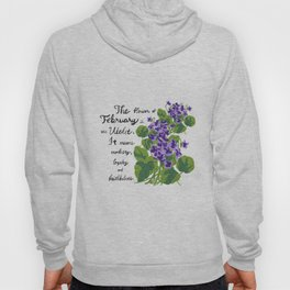 Sweet Violet - Birth Month Flower For February Hoody