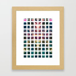 Square Repeat Framed Art Print