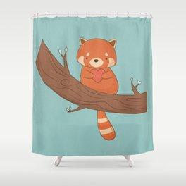 Kawaii Cute Red Panda Shower Curtain