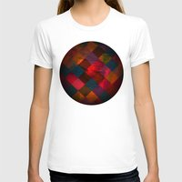fabric T-shirts featuring Grid fabric by Tony Vazquez