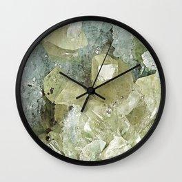 chrysocolla & calcite Wall Clock