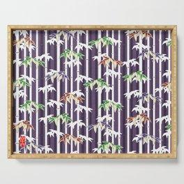 Vintage Japanese Bamboo pattern Serving Tray