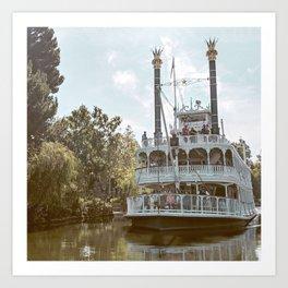American Riverboat Art Print