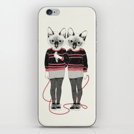 siamese twins iPhone Skin