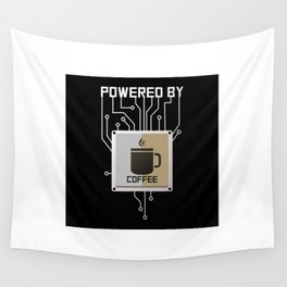 Powered by Coffee Wall Tapestry